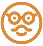 Sunglass smiley, nerdy big grin Vector Isolated Icon which can easily modify or edit vector illustration