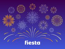 Fireworks. Vector illustration of  bright burst in simple flat style. stock illustration