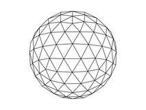 Geodesic sphere illustration vector vector illustration