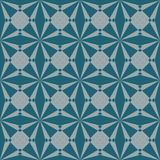 Seamless abstract geometric vector pattern in teal color royalty free illustration