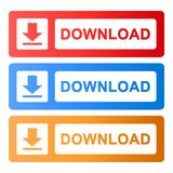 Download button internet website vector illustration