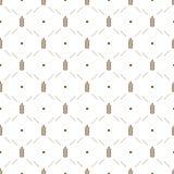 Vector seamless pattern illustration ears of wheat. vector illustration
