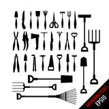 Set of various gardening tools. Isolated on white background. Garden tool kit. Vector illustration for your graphic design vector illustration