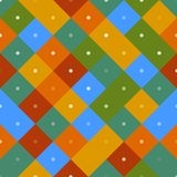 70s seamless colorful repetitive pattern. With pixel squares. Vector illustration for your graphic design royalty free illustration