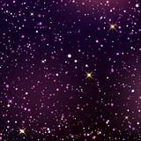 Dark blue and violet starry sky. Dark blue starry sky. Dark background with shining light dispersed particles and stars. Vector illustration for your graphic vector illustration