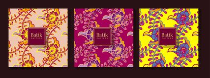 Floral Ethnic Colorful Pattern royalty free illustration
