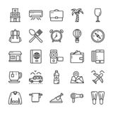 Travel And Hotel Line Icons Pack royalty free illustration