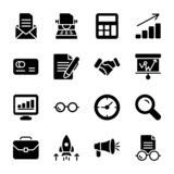 Module, Presentation Glyph Vectors Pack royalty free illustration