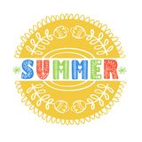 Summer Scandinavian folk ethnic style vector illustration