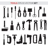 Set of repair tools. Set of silhouettes of repair tools .Vector illustration for your graphic design vector illustration