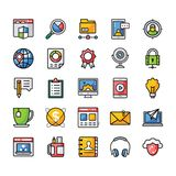 A Pack of Flat Vector Icons stock illustration