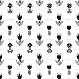 Scandinavian folk ethno surface seamless pattern stock illustration