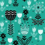 Scandinavian folk ethno surface seamless pattern vector illustration