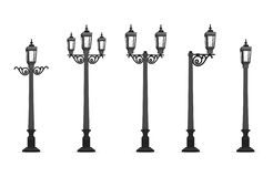 Garden Street Lamp Vector Illustration royalty free illustration