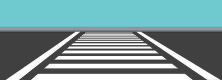 Zebra Cross Side View Vector Illustration royalty free stock photo