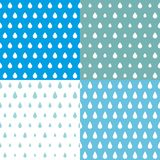 Drops of rain Vector pattern, Kids, Season of the rain, illustration, cute wallpaper, background card, background wrap scrap paper. Cover - Vector royalty free illustration
