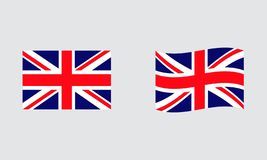 England flag editorial standard flag and wavy flag. England flag editorial royalty free illustration