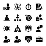 Personal Quality, Employee Management Solid Vectors royalty free illustration