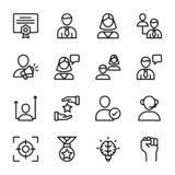 Personal Quality, Employee Management Line Icons Pack vector illustration