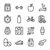 Diet Plan, Sports Supplement, Nutrition Icons Pack vector illustration