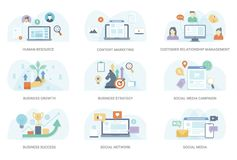 Flat Concept Illustration Collection vector illustration