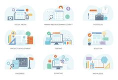 Flat Concept Illustration Bundle stock illustration