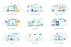 Business Flat Illustration Bundle stock illustration