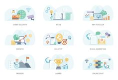 Business Flat Illustration Pack royalty free illustration