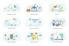 Business Flat Illustration Collection royalty free illustration
