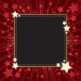 Print. Stars frame background in red white and black Stock Images