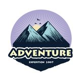 Logo for Camping Mountain Climbing Adventure, Emblems, and Badges. Camp in Forest Vector Illustration Design Elements Template. Icon vector illustration