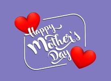 Mothers day greeting card. royalty free illustration