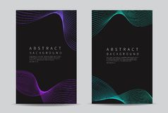Abstract lines wave background. Cover design template. Vector illustration. Abstract lines wave background. Cover Modern design template. Vector royalty free illustration