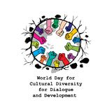 World Day for Cultural Diversity for Dialogue and Development. Poster design royalty free illustration