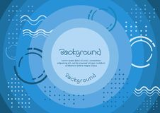 Blue background with abstract patterns and textures. A background template with blue textures and gradations, you can use it as a background to show cheerfulness royalty free illustration