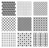 Seamless vintage Japanese retro round circle pattern illustration vector Set royalty free stock images