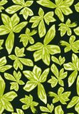 Seamless vector pattern with tropical two shades leaves royalty free illustration