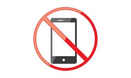 Off Mobile Phone Sign Switch Off Phone Icon No Phone Allowed Mobile Warning Symbol. Illustration of Off Mobile Phone Sign Switch Off Phone Icon No Phone Allowed stock illustration