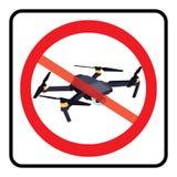 No drone zone sign. No drones icon vector. Flights with drone prohibited vector illustration