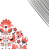 Folk floral embroidery background stock photo