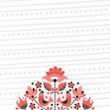 Folk floral embroidery background 2 vector illustration