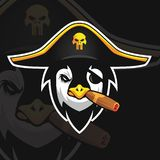 Penguin e sport logo royalty free illustration
