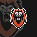 Powerful Lion e sport logo royalty free illustration