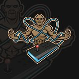 Monk e sport logo vector illustration