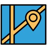 Address navigator Isolated Vector Icon which can easily modify or edit royalty free illustration