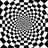 Try to watch it for long time. You feel moving. White and black squares in infinite hole stock illustration