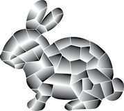 Gray Rabbit. Elements linear colorful. royalty free illustration