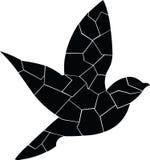 Black Bird. Alone flying, she is back. royalty free illustration