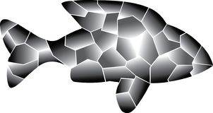 Gray colors. Lonly Fish. vector illustration