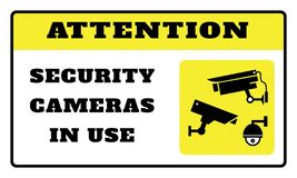Attention-security camera in use royalty free illustration